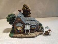 2pc Thomas KinkadeFalbrooke Florist Hawthorne Lamp Light Village Sculpture 79981