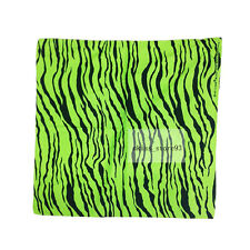 Women Men's Cotton Zebra Print Stripe Bandana Headwrap Colorful Dot Hiphop Scarf