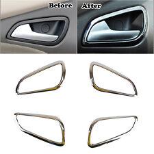 Fit For Ford Focus Mk3 Chrome Interior Door Handle Bowl Cover Trim Bezel Garnish