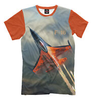 F-16 Fighting Falcon t-shirt - all over print flying fighter aircraft tee