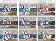 2001 private stock game worn jersey footbball cards