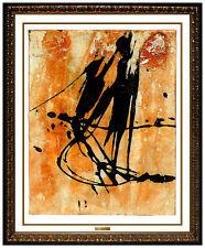 JAMALI Original Pigmentation on Cork Painting Abstract Figurative Portrait Art