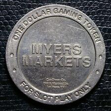 Rare MYERS MARKET - $1.00 Gaming Token - Las Vegas, NV