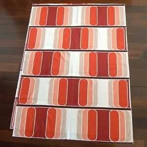VINTAGE MOD OP 1960's PILL SHAPE SPACE AGE PROP FABRIC MID-CENTURY MODERN RED