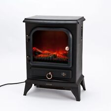 Flame Effect Stove Electric Heater Fire Log Burning Fireplace Fireside Room Home