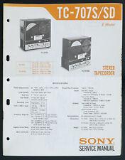 SONY TC-707S TC-707SD Original Bandmaschine/Stereo Tapecorder Service-Manual 131