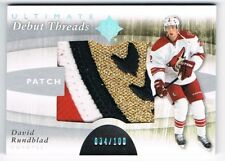 2011-12 Ultimate Collection Debut Threads Patch David Rundblad /100 !! 4 COLOR