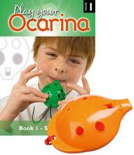 OCARINA SET of 4-hole Ocarina with 'Starting Off' Book 1, six colours
