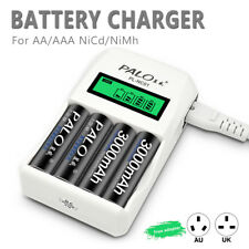 Intelligent LCD 4 Slot Rechargeable Fast Battery Charger For AA/AAA NiCd/NiMh
