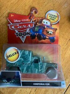 Disney Pixar Cars Toon Deluxe Corporal Kim Diecast Car T5741