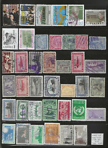 PANAMA...#588A/722 & C6A/C239...Mint, Used & CTO...1930/87...Coll of 40 Diff