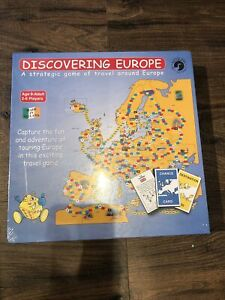 Discovering Europe Board Game 2-6 Players Travel Tourism - Brand New & Sealed