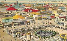 Playland From Ferris Wheel Wildwood By The Sea NJ Postcard Amusement Park