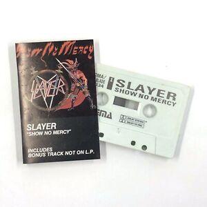 SLAYER Show No Mercy Cassette Tape 1983 OG Enigma EC1034 Thrash Metal Rare!!!