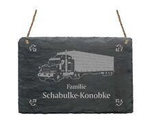 « TRUCK » Schiefertafel Türschild mit MOTIV + IHR TEXT - LKW Trucker