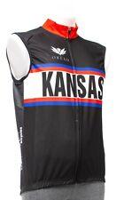 Panache Kansas KU Jayhawks Wind Vest Men 3XL Black Road Bike MTB Lightweight