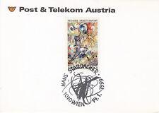 Österreich Briefmarken auf Karte 1999 Mi.2052 Stempel Hans Staudacher Wien