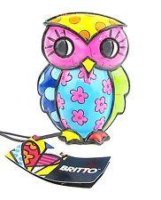 "Romero Britto Owl Figurine ""Truth"" Poly Resin Boxed"