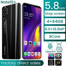 2020 Note10+Android Smart Mobile Phone 5.8Inches 4+64+USB Cable Protective Case