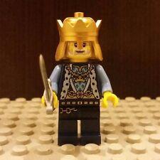 Lego NEW Castle Kingdoms Blue Lion King Minifigure w/ Sword And Gold Crown 70404
