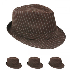 WOMEN MEN Fedora Hat Wedding Dress Formal BROWN CAP FASHION SUMMER US SELLER