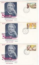 3 first day covers, The Gambia, Sc #312-14, Schweitzer, Fleetwood cachets, 1975
