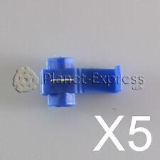 5 x Conectores cable Rapidos roba corriente Scotch Lock 1 a 2,5mm. AWG 18-14