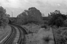 PHOTO  1978 OVERGROWN AND DERELICT REMAINS OF PRIESTFIELD STATION. 1978. OVERGRO