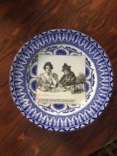 """Antique Doulton Gibson Girl Blue Plate """" Miss Babbles """""""