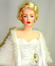 "Franklin Mint Marilyn Monroe All About Eve 19"" Porcelain Doll White Fur Coat"
