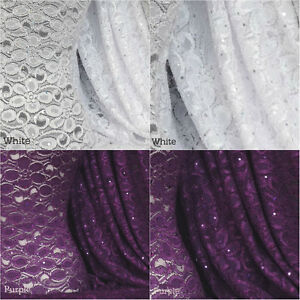 Sequins Holograms Stretch Lace With Lycra Fabric Q1