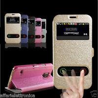 PER HTC 626 626G DUAL COPERTURA 360 CUSTODIA COVER FLIP LIBRO STAND FINESTRA