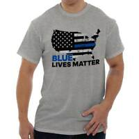 Blue Lives Matter Support Thin Blue Line American Police Ladies T Shirt Tee