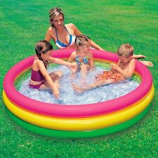 Intex 57412- Piscine 3 boudins fond gonflable