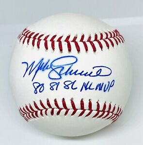 "Phillies Mike Schmidt Signed ""80,81,86 MVP"" Baseball MLB and Fanatics Hologram"