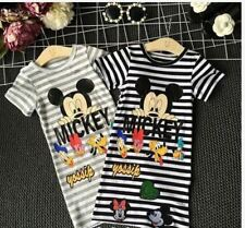 MICKEY KIDS STRIPE DRESS AG - BLACK (XL)
