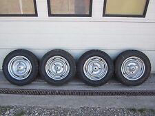 4 Winterräder Stahl Felgen Räder 165SR15 165/80R15 Oldtimer Peugeot 403 / 404
