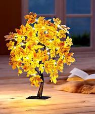 Ahorn LED-Baum Herbst mit 40 warmweiße LEDs 50cm hoch Lichterbäumchen Herbstlaub