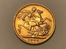 More details for 1906 london mint full gold sovereign edward vii. decent example