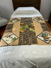 Quilt Lap Robe Bed Comforter Throw 40x39 Hand Made Qulted & Machine Stitch Birds