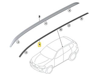 51137206131 Listello del tetto, sinistro -ORIGINALE- BMW X3 F25