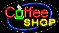 "New ""Coffee Shop"" 30x17 Oval Solid/Flash Real Neon Sign w/Custom Options 14508"