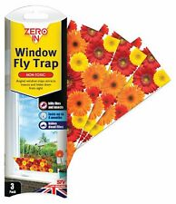 3 Pack Window Insect Fly Flying Insect Traps Sticky Pest Control Flies Stickers