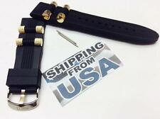 24mm Genuine Bling Master(BM) Rubber Dog Bullet Watch Band INVICTA Russian Diver