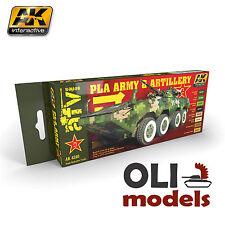 AFV Chinese PLA ARMY & ARTILLERY Acrylic Paint Set 8x17ml  - AK Interactive 4240