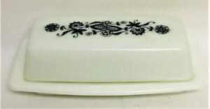 PYREX 1/4 Lb Covered Butter Dish OLD TOWN BLUE Corelle Corning #1