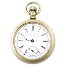 WALTHAM WHITE DIAL STERLING SILVER POCKET WATCH FOR PARTS OR REPAIRS