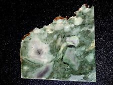 "Green Marble  slab- 4 1/4 ""  x 4 1/8  ""--rough- cabbing- NEW MATERIAL"