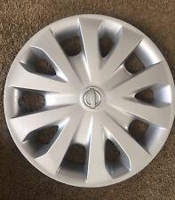 """2012-17 Nissan Versa 15"""" OEM Silver Hubcap P/N 403153BA0B"""