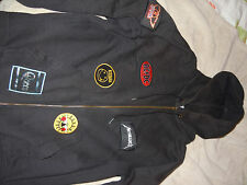 jacket veste sweet zippé - patch rock metal acdc led zep nirvana queen guns
